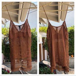 La Perla sheer silk embroidered cami/chemise